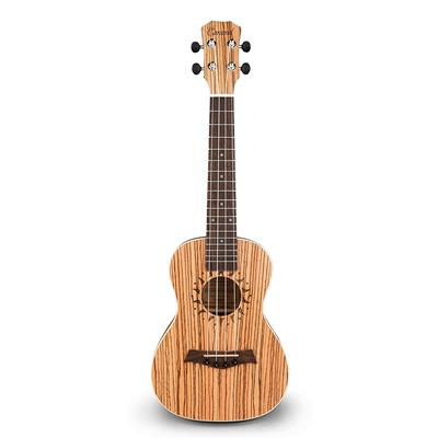 Caramel CT102A Zebra Wood Tenor Acoustic Ukulele