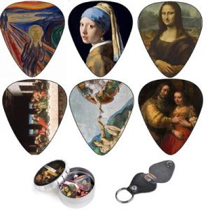 Cool Guitar Picks By Art Tribute, Renaissance Plectrum