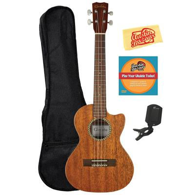 Cordoba 20TM Tenor Cutaway Acoustic-Electric Ukulele Bundle