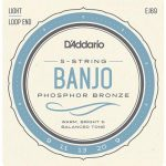 D_Addario EJ69 Phosphor Bronze 5-String Banjo Strings, Light