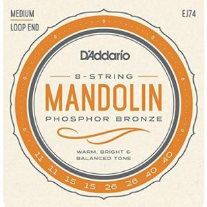 D_Addario EJ74 Phosphor Bronze Mandolin Strings, Medium