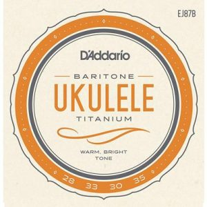 D_Addario EJ87B Titanium Ukulele Strings, Baritone