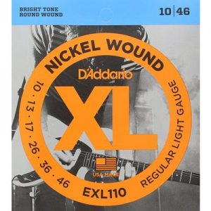 D_Addario EXL110 Nickel Wound Electric Guitar Strings, 10-46