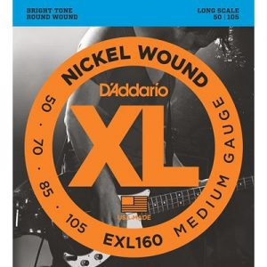D_Addario EXL160 Nickel Wound Bass Guitar Strings, Medium
