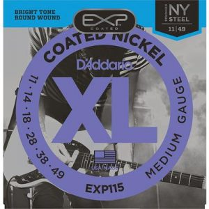 D_Addario EXP115 Coated Electric Guitar Strings, Medium-Blues-Jazz