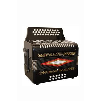 Directly Cheap 31 Button Black Diatonic Accordion Key of SOL G,C,F,