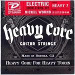 Dunlop DHCN1060 Heavy Core Nickel Wound Guitar Strings, 7 Strings