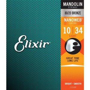 Elixir Strings Mandolin Strings w NANOWEB Coating, Light