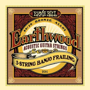 Ernie Ball Earthwood 5-string Banjo 80-20 Bronze Loop End Frailing Set