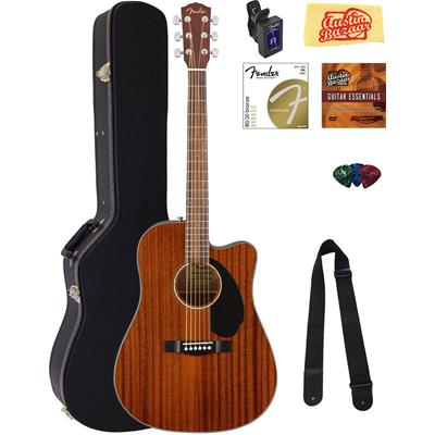 Fender CD-60SCE Dreadnought Acoustic-Electric Guitar Bundle