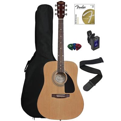 Fender FA‌-100 Dreadnought Acoustic Guitar Bundle