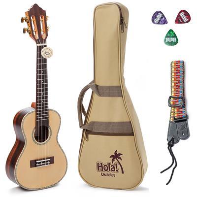 Hola! Music HM-427SSR+ Limited Edition Professional Tenor Ukulele Bundle