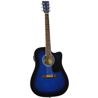Jameson Guitars Blue Full Size Thinline Acoustic Electric