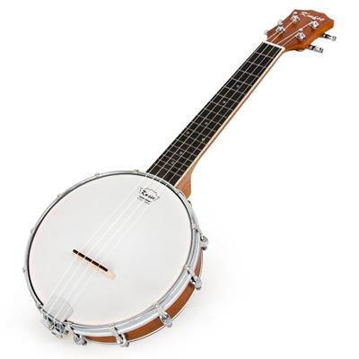 Kmise 4 String Banjo Ukulele Concert 23 Inch Size Sapele Wood