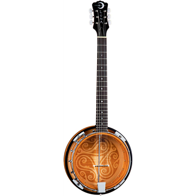 Luna Folk Series Celtic Six-String Banjo