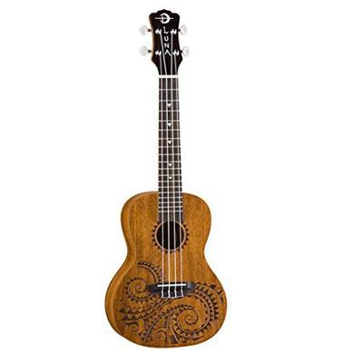 Luna Guitars UKETCMAH Tattoo Concert Mahogany Ukulele