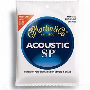 Martin MSP4150 SP Phosphor Bronze Acoustic Guitar Strings, Light