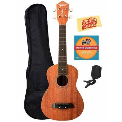 Oscar Schmidt OU2E Mahogany Concert Acoustic-Electric Ukulele Bundle