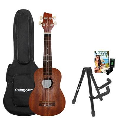 Sawtooth ST-UKE-MS-KIT-2 Mahogany Soprano Ukulele Bundle
