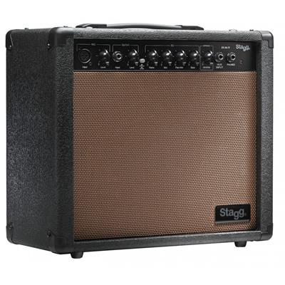 Stagg 20 AA R USA 20 Watt RMS Acoustic Guitar Amplifier