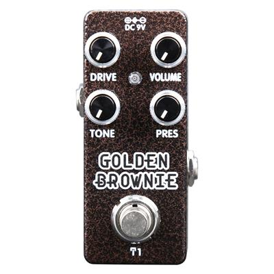Xvive Distortion Guitar Pedal- Golden Brownie T1