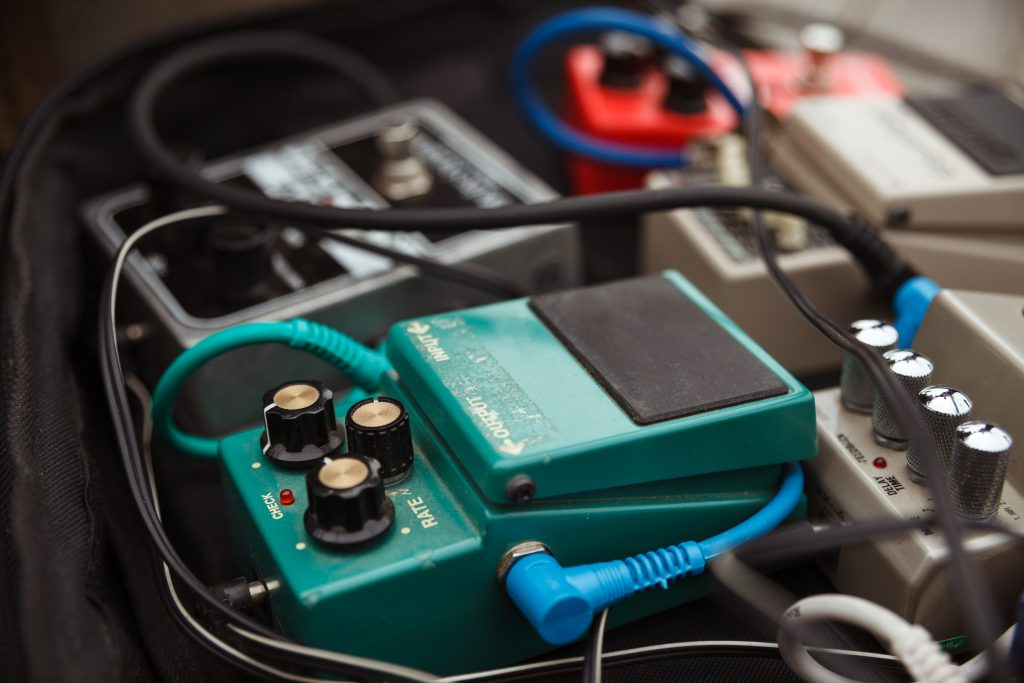 distortion effect pedals and amplifiers Selective focus